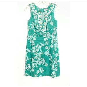 Lilly Pulizer Adelia Dress Lagoon Birds The Bees